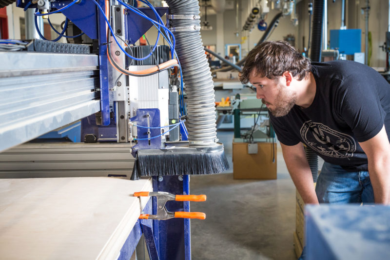 David Andy, who is enrolled in a program in advanced manufacturing at Metro State University in Denver designed in collaboration with employers.