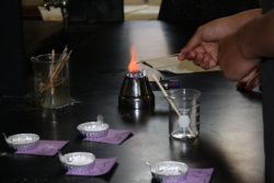 Woodrow Wilson High School students in Camden, N.J., see a rich orange flame in a chemistry lab that digs into atomic structure of elements.