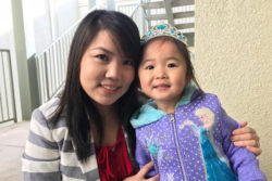 "Huyen Le and her daughter Katelynn Trinh. Through ""nudges"" via texts, Le gets reminded of activities to do with Katelynn that enhance her learning."