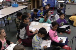 Students at Barwell Road Elementary School