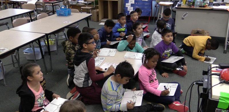 Students at Barwell Road Elementary School