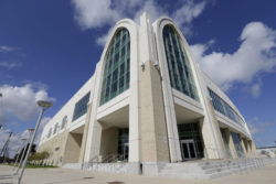 The new convocation center at Xavier University is seen in New Orleans, Monday, Sept. 2, 2013. Student Landan Moore says Xavier is his dream school.