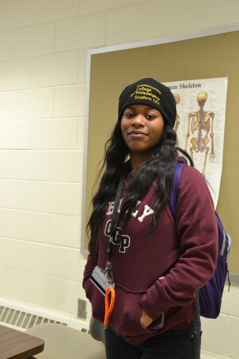 Ishanaya Thornton, a Community College of Philadelphia student who received her GED last year, hopes to follow her sisters into nursing.