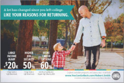 """One of the advertisements produced by the """"You Can. Go Back"""" campaign in Indiana, among the several states trying to get college dropouts to finish their college educations."""