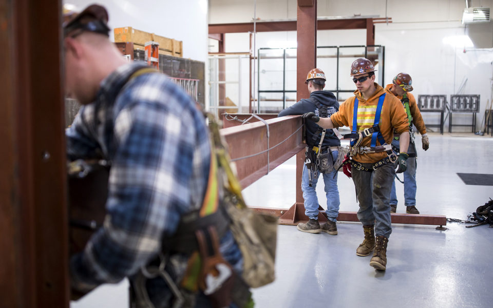 Garret Morgan is training as an ironworker near Seattle, and already has a job that pays him $50,000 a year.
