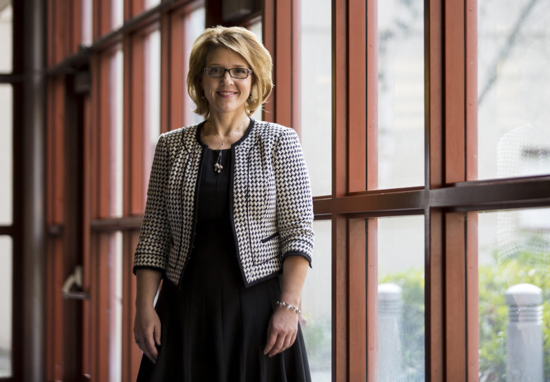 Amy Morrison Goings, president of the Lake Washington Institute of Technology, which changed its name from Lake Washington Technical College to avoid being stereotyped as a vocational school.
