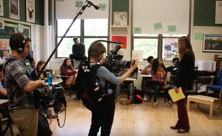 "Filmmakers filmed inside a Chicago high school for one year to produce the ""America is Me"" documentary film."