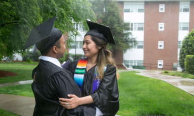 Jacob Maldonado and Maria Campos, friends and DACA recipients, on their graduation day.