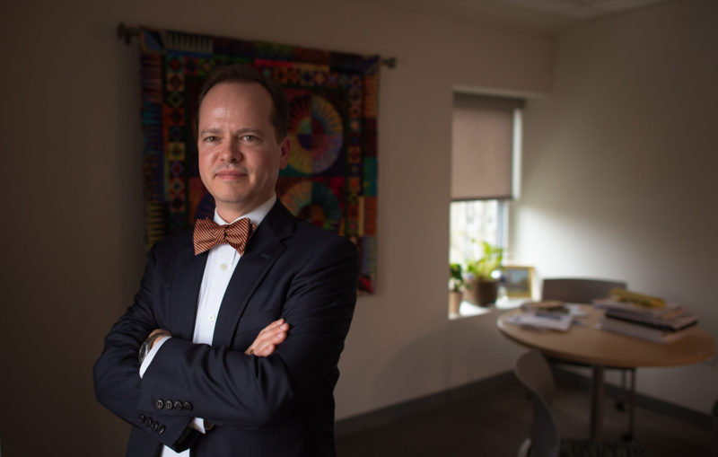 """Scott James, executive vice president of Salem State. James says the college is """"committed to getting our employee population to mirror our student population."""""""