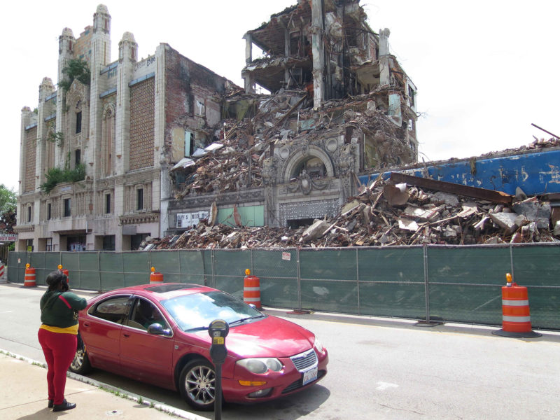 Once thriving downtown East St. Louis is now virtually abandoned.