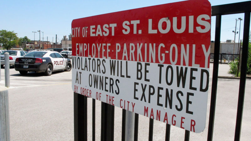 In 2010, East St. Louis' police department laid off 30 percent of its police force. The city still struggles to adequately staff the city's streets.