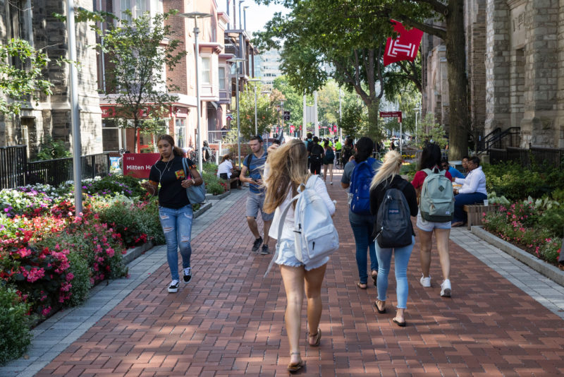 Students walk on the Temple University campus in Philadelphia. Temple has started a master's degree in sport business, among the 41,446 degree or certificate programs colleges and universities have added since 2012.