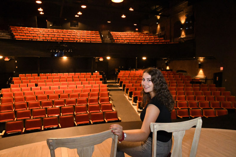 Alana Wolf at her summer internship at a theater company in Pittsfield, Massachusetts. Wolf was accepted to Cornell University, which told her to go somewhere else as a freshman and come back as a sophomore under a little-known policy called conditional admission. She spent her freshman year at Ithaca College and will enter Cornell this fall.