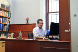 Roosevelt Montás, who spoke no English when he arrived in New York City from the Dominican Republic at age 12, leads Columbia University's Freedom and Citizenship summer program for New York high school students.