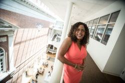 "Ebony McGee, a Vanderbilt University associate professor who studies diversity in education, in her office at Vanderbilt's Peabody College. McGee says black faculty at predominantly white institutions are either ignored or closely scrutinized. ""They don't want to stay in that toxic environment, so they leave."""
