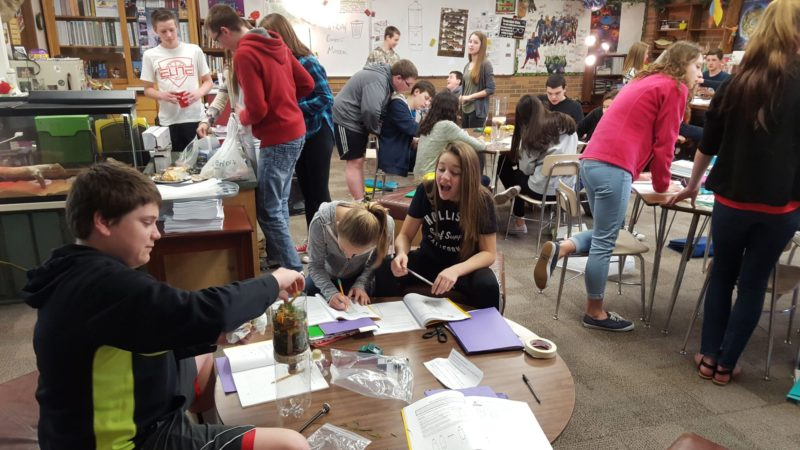Veteran science teacher Craig Fischer tries to give his students hands-on learning opportunities as often as possible.