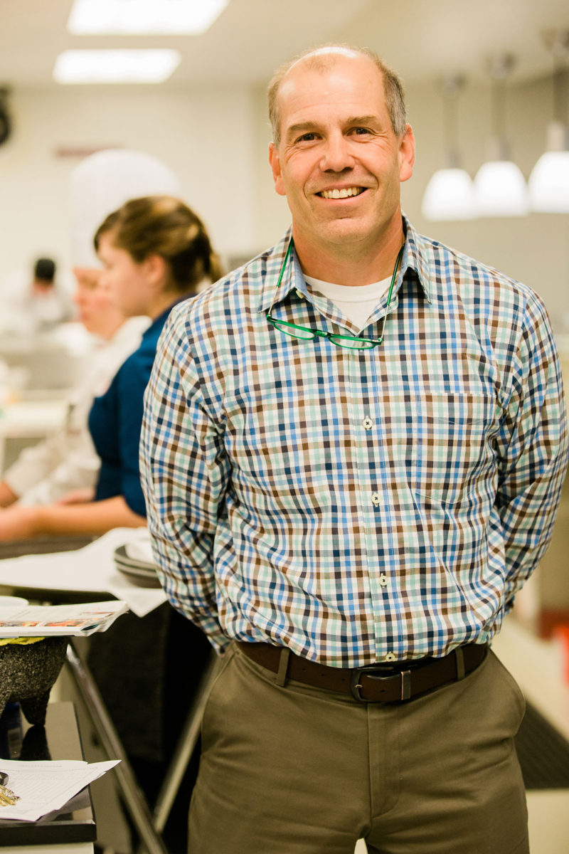 Tom Gallagher, associate dean at Missoula College, in the kitchen of the culinary program.