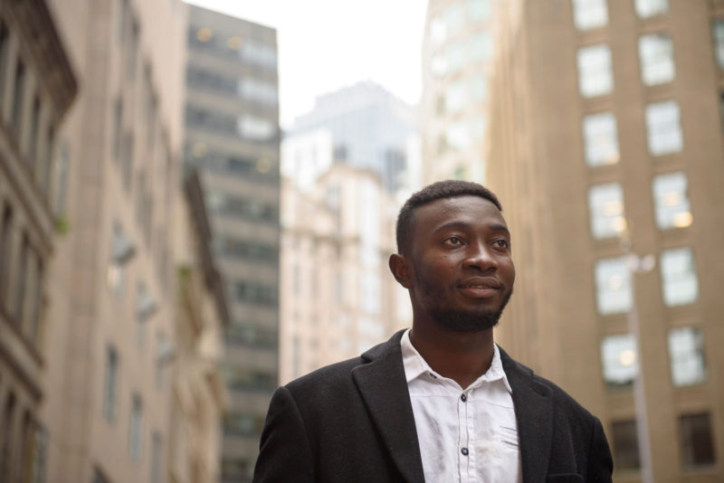 """Aboubacar Konate graduated second in his class from high school, took Advanced Placement classes, speaks four languages and played three sports. """"College was my dream and my goal,"""" he says. But private colleges offered the aspiring engineer little financial aid, so he went to a public university and now works as an engineer in Boston."""