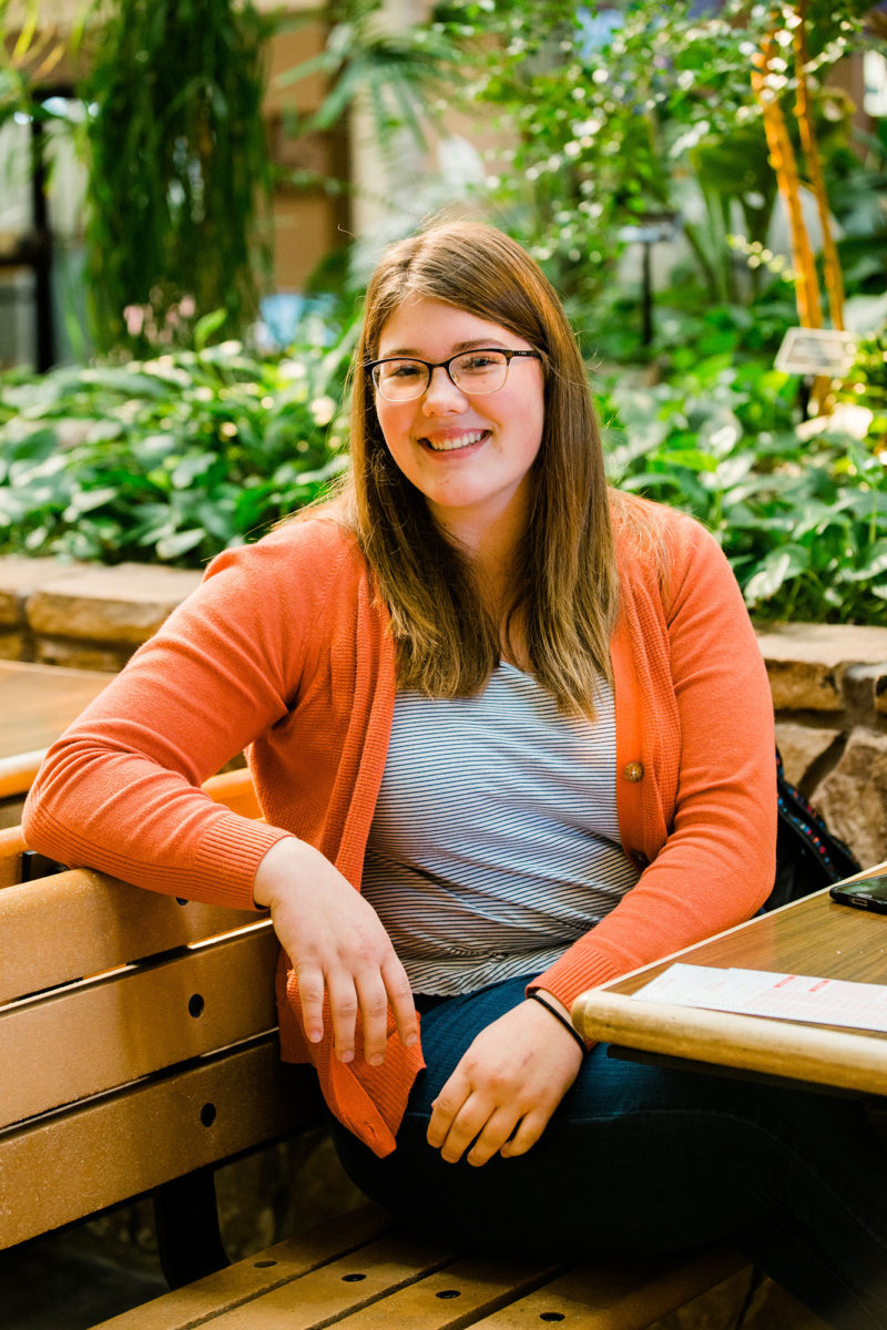 "Annabelle Smith, a political science major at the University of Montana who works part time to pay for school. If Montana's higher education property tax levy fails, the university system warns that tuition could increase by 17 to 18 percent, and ""That's a lot,"" says Smith. ""It's super tough to be a student and to afford stuff."""