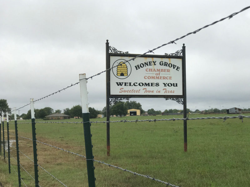 "Honey Grove, which calls itself ""The Sweetest Town in Texas,"" is a small, rural city near the border with Oklahoma."