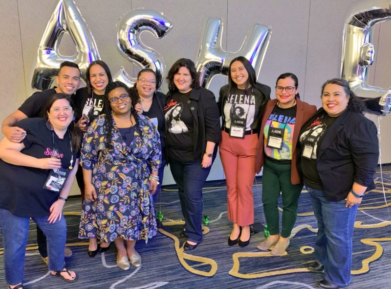 "Participants celebrate ""Selena Day"" as part of the Association for the Study of Higher Education annual conference."