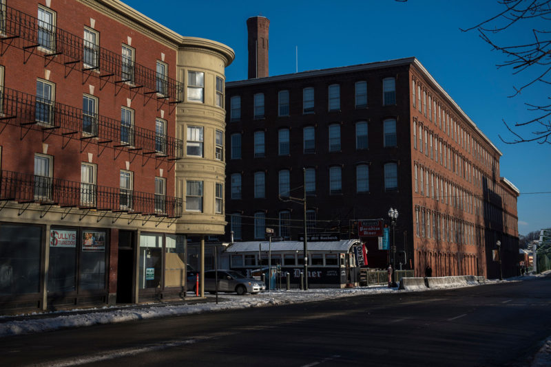 The renovated Boott Cotton Mills, built in 1835, dates to when the city of Lowell was a textile manufacturing powerhouse.