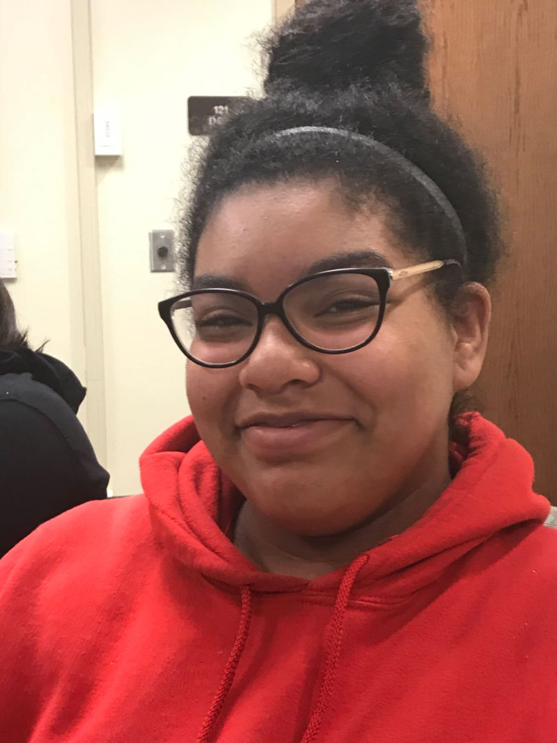 Ridgeview eighth-grader Vanessa Everhart is in her second year in the AVID program.