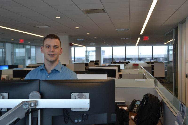 Colton Wright applied for Zurich's apprenticeship program, even though he already holds a bachelor's degree, because he saw it as a clear path to a well-paid and secure career.