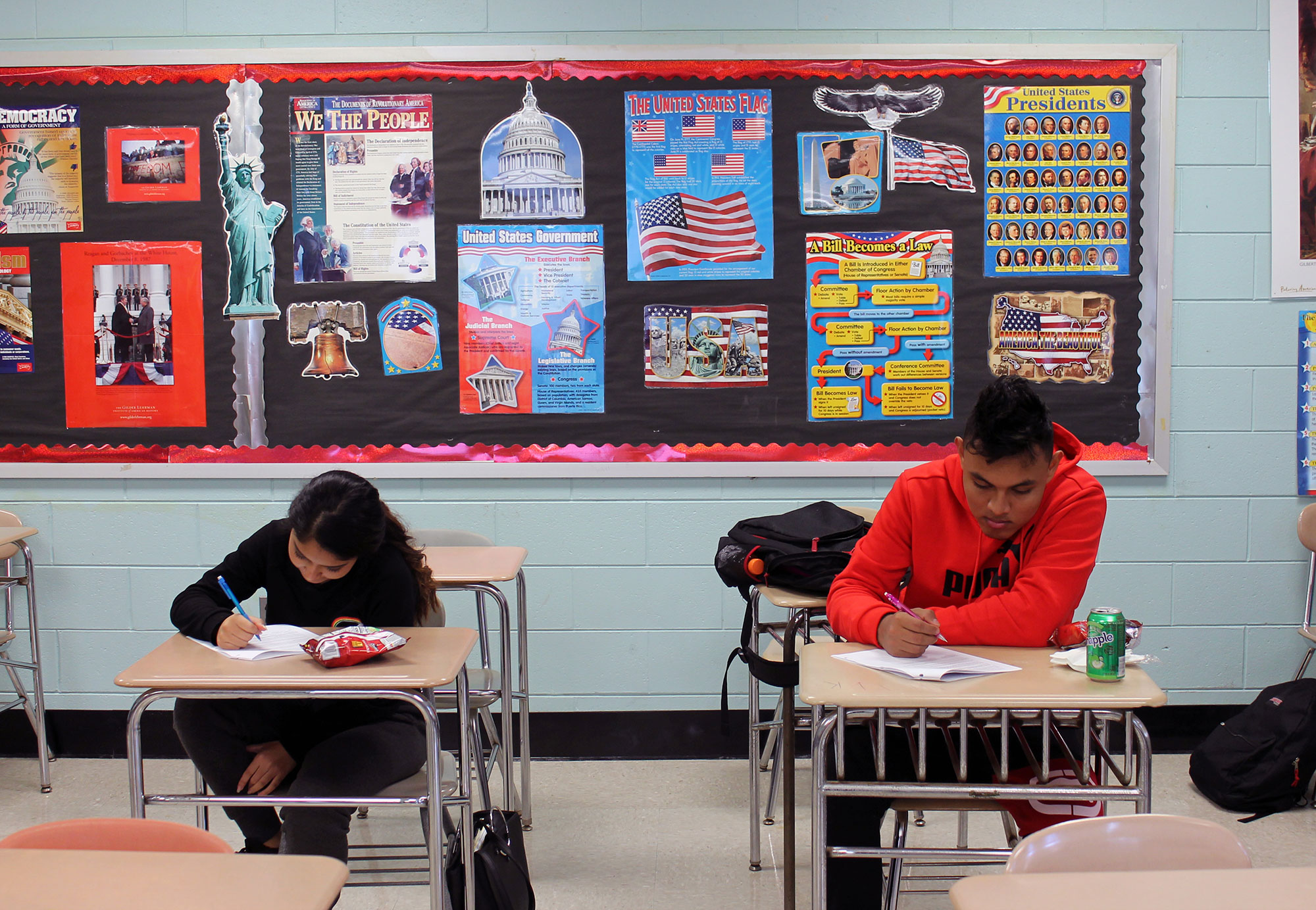 After a hate crime, a town welcomes immigrant students into