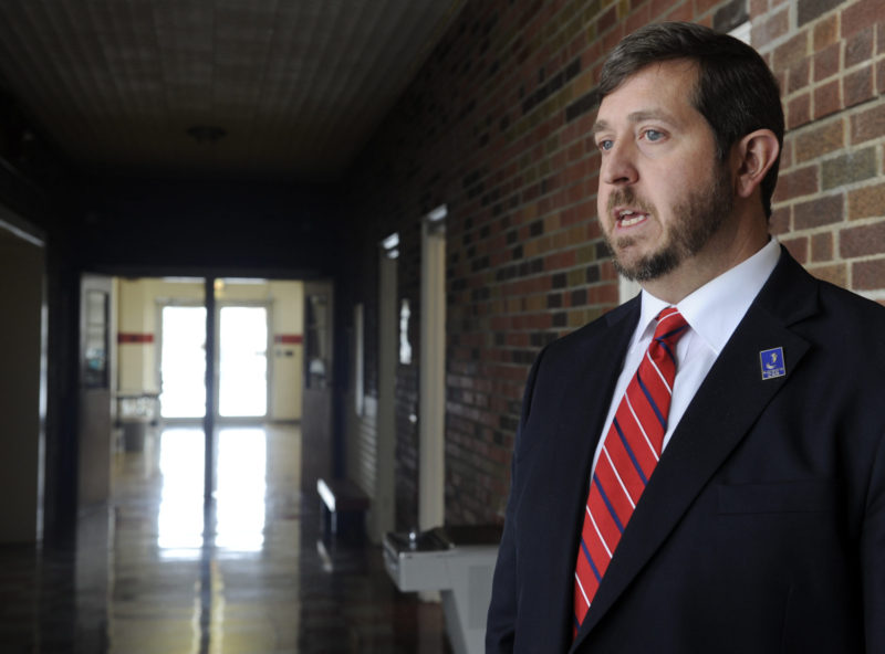 Andrew Gaddis is superintendent of Unified School District 377 in rural northeastern Kansas, which hasn't successfully passed a school bond measure since 1974 despite five attempts.