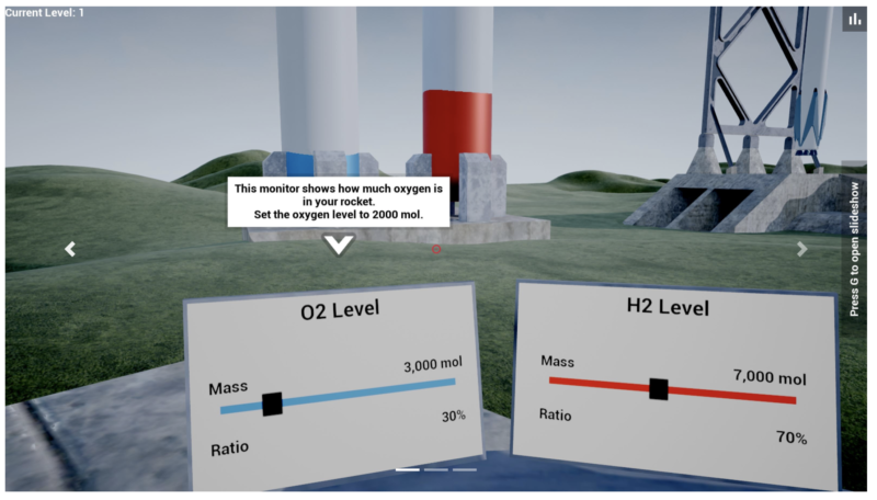 This screenshot from realism.io shows the chemistry Rocket Lab designed by Steven Wang and his co-founders.