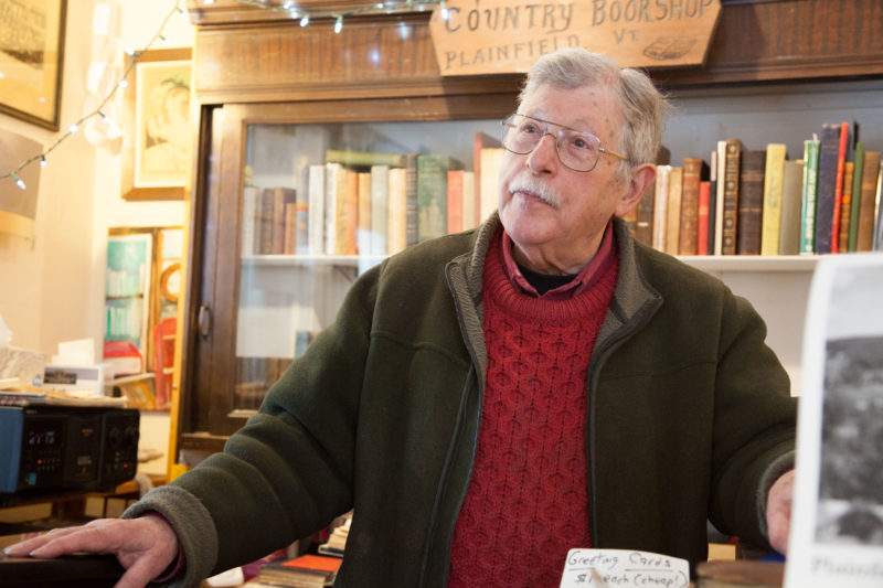 "Ben Koenig, owner and operator of the Country Bookshop near Goddard College in Plainfield, Vermont. ""I would hate to see them close, and it would have an effect,"" says Koenig."