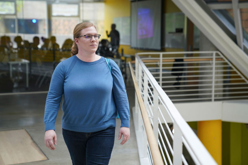 "Danielle Ridgeway, a 36-year-old mother of two, is a business major at Portland State University. She was ""a little hesitant, definitely,"" to come back. ""I don't want to waste any more money. I don't want to waste any more time."""