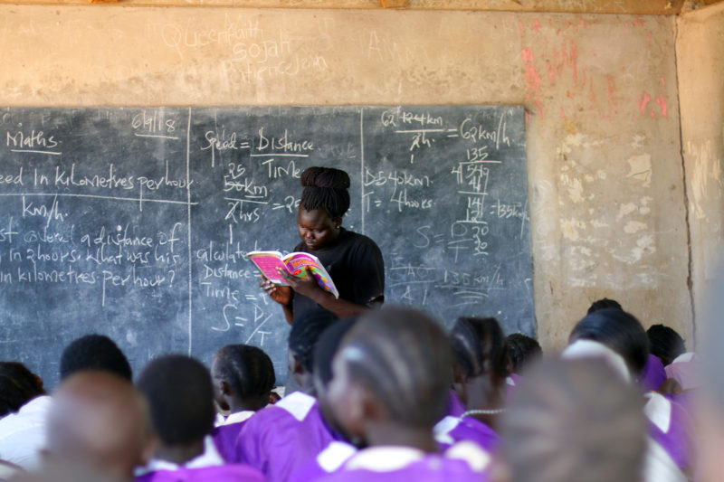 Jessica Deng became a teacher because she had limited other job options in Kakuma. Although she has grown to love teaching, she wants to go to a four-year university to study public health.