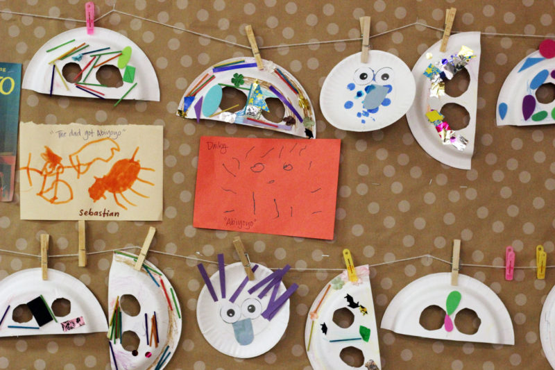 Student artwork hangs in a Kidango child care center. Kidango has been rolling out early childhood mental health consultations in many of its centers to help teachers better understand student mental health needs.