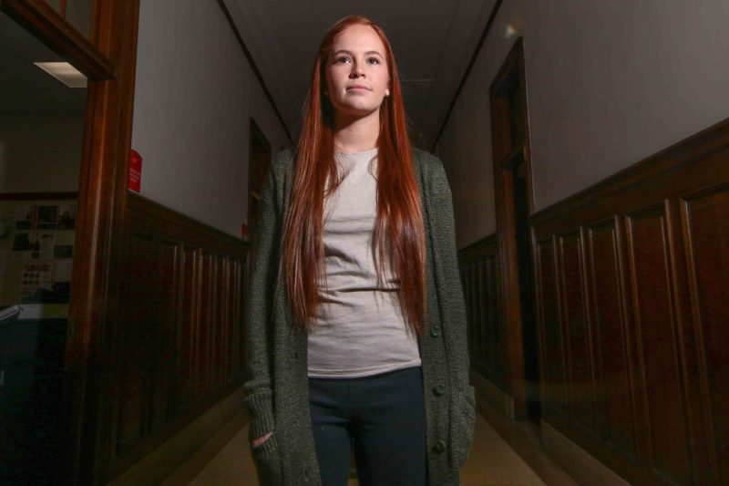Now a senior at Chestnut Hill College, Erin Crowley changed her major from psychology to accounting. She's had to take a heavy course load and go to night school to graduate on time.