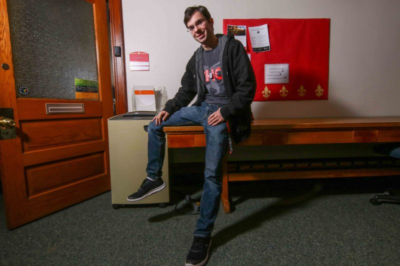 """Christopher Bunn was among the roughly 10 percent of students who arrive at Chestnut Hill College without having declared a major. He considered one, picked another, then switched, forcing him to take a heavy course load to keep on schedule and avoid staying longer than four years. """"I was never the biggest fan of that."""""""
