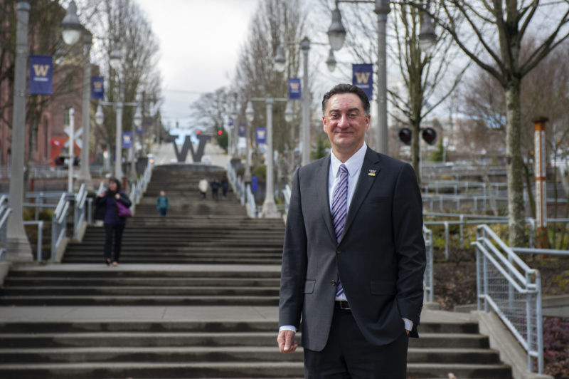"Ed Mirecki, University of Washington-Tacoma's dean of students. ""Higher education is not a social service agency,"" he says. ""But on the other hand, if we really are focused on increasing access and providing these [educational] opportunities for students, we have an obligation to help support their success."""