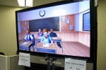 The TeachLivE classroom simulator lets education students get the feel of managing a classroom. The virtual students respond to the teacher's questions and movements and each student has a distinct personality. (Photo by John O'Connor/StateImpact Florida)