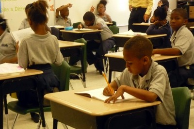Students study at Akili Academy, one of dozens of charter schools in New Orleans.  (Photo: Sarah Garland)