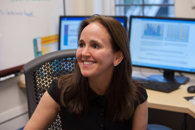 University of Chicago pediatric surgeon Dana Suskind is testing several strategies to teach parents about the power of talking to their babies. (Photo: Julienne Schaer)