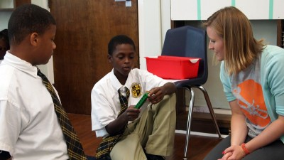Greta Anderson, a 5th grade math teacher at New Orleans' Dibert elementary school, has helped her peers adjust to the new Common Core curricular standards. (Photo: FirstLine schools)