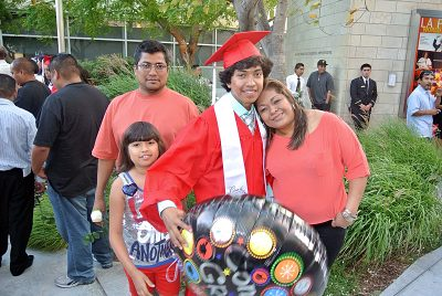 Miguel parents drove from Indiana to see him graduate in June, 2012.