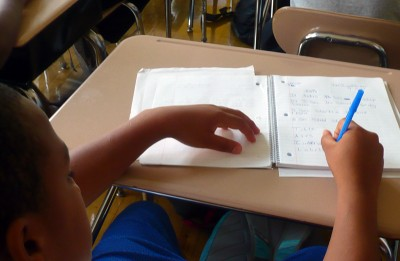 Under the Common Core State Standards, students will be asked to spend more time learning certain math concepts and will skip others. The idea is to give them a stronger foundation for algebra. (Photo: Sarah Garland)