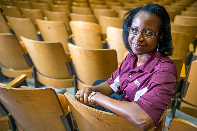 Dr. Aurelia L. Curtis, Principal at Curtis High School in the school's auditorium on June 26, 2014 in Staten Island, New York. (Photo: Ann Hermes/The Christian Science Monitor) No reproduction