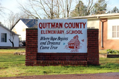 Quitman County Elementary School is one of four Mississippi schools that the Barksdale Reading Institute is trying to improve. (Photo by Jackie Mader)