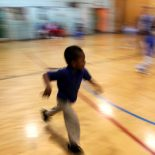 Children play in a physical education class at Quitman Street Community School. (Photo by Stephen Nessen, WNYC)