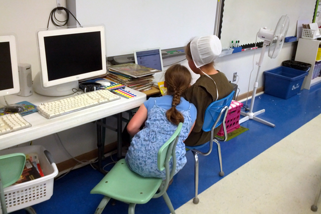 Swan Meadow internet Swan Meadow, a school of 31 students near the West Virginia border, has a history of serving nearby Amish and Mennonite communities. This school did not get an updated online connection, which some estimate would cost $700,000. (Photo: Nichole Dobo)