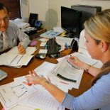 "Scott Steckler, principal at George Cox Elementary School in Gretna conducts a pre-observation interview with teacher Lora Johnson in his office Thursday, October 18, 2012. ""…For the most part the teachers are accepting of those achievement goals that have been determined by the school district,"" Steckler said.(Photo by Ted Jackson, Nola.com / The Times-Picayune)"