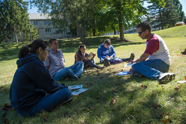 "Despite pushback from alumnae, male undergraduate commuter students were admitted in 2013. Males have been admitted to adult degree and graduate programs since the early 1980s, though, and Brian Speer, a Wilson spokesman, said the experience has been coed for about 30 years. Undergraduates and other degree candidates sometimes share classes. ""Very few go through the whole program without males,"" said Speer. (Photos: Wilson College Communications)"